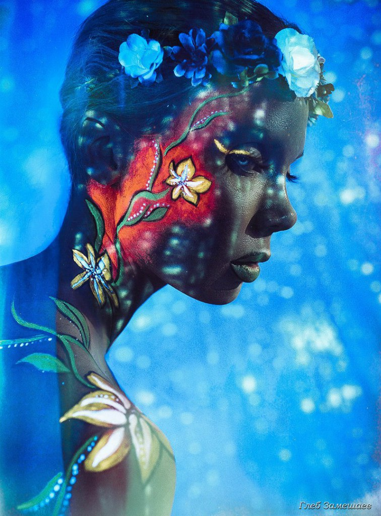 неоновый face art