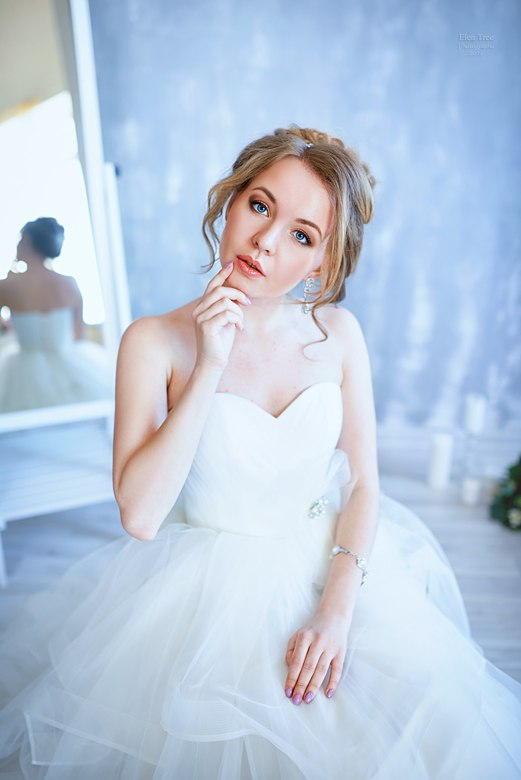 свадебный образ для нежной невесты