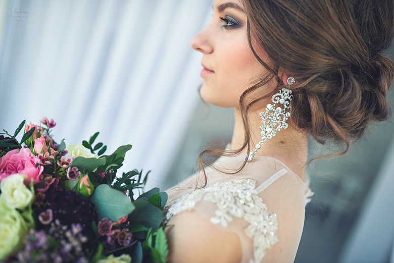 свадебная прическа и макияж